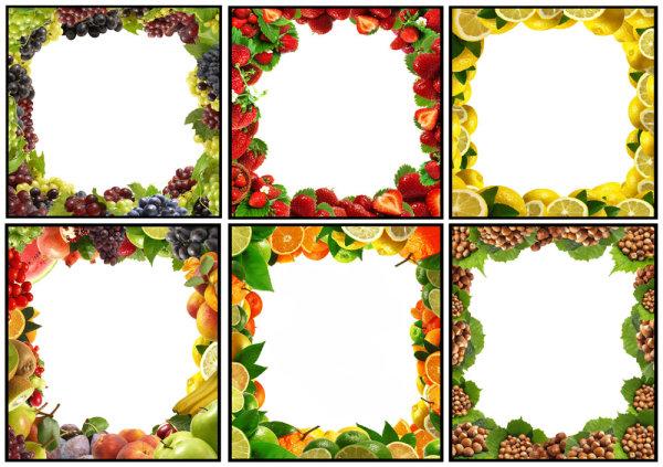 水果边框01素材