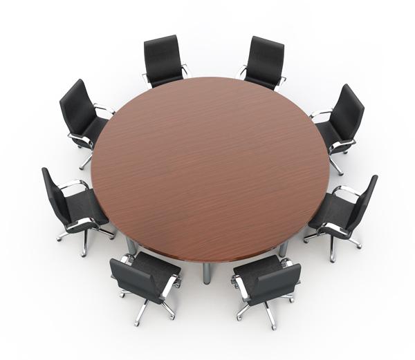 圆形会议桌椅素材