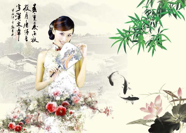 中国风古典美女素材