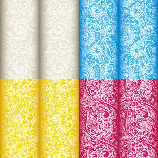 花纹彩色绸缎背景