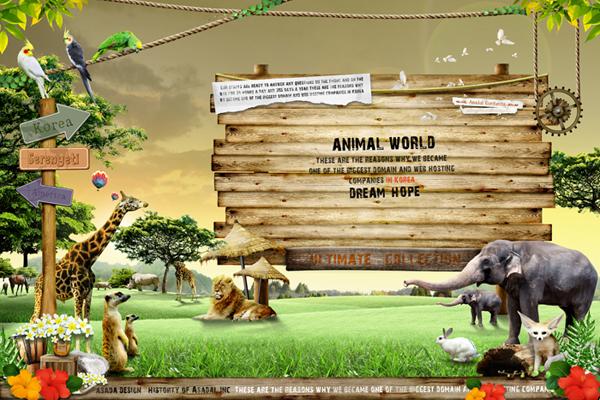 动物园导航指示牌