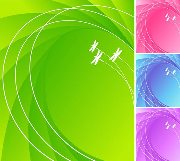 蜻蜓弧线背景素材
