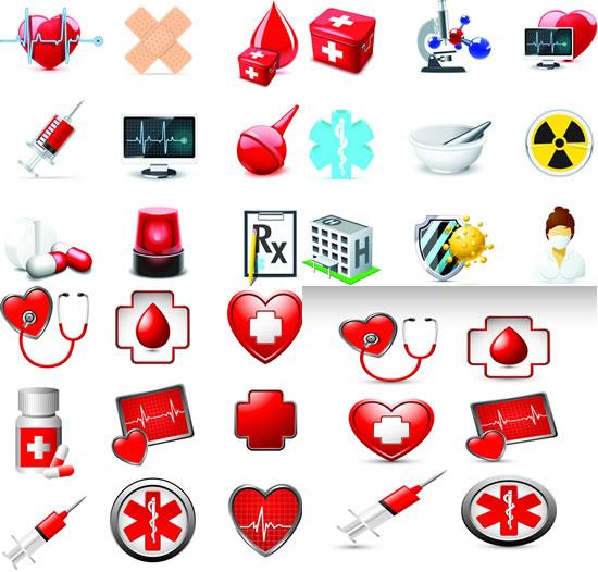 医疗救治图标素材