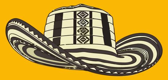 黑白纹路牛仔帽素材
