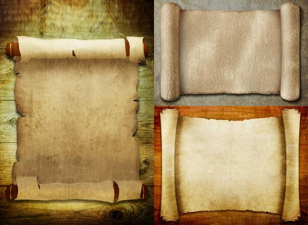 复古卷纸图片素材