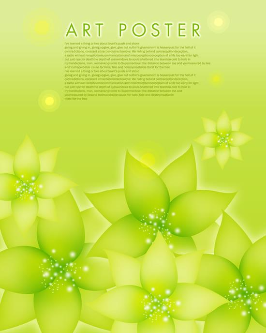 绿色花叶背景-背景底纹高清图库-名片之家