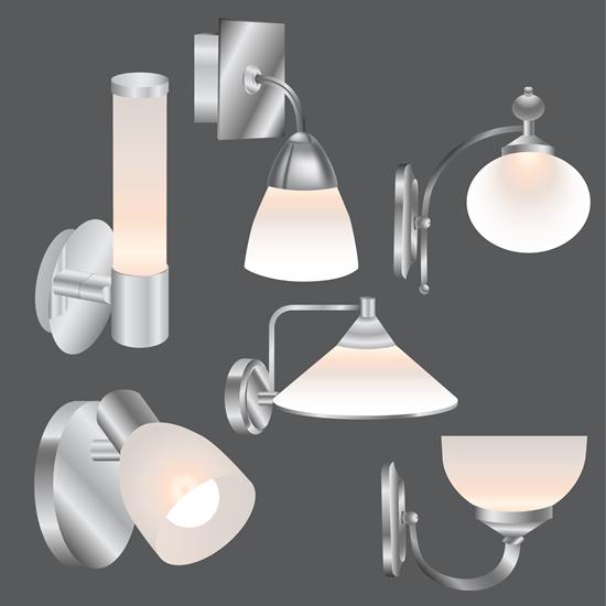 时尚壁灯设计素材