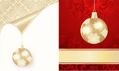 圣诞彩球背景素材