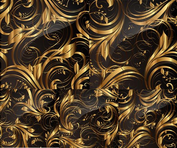 金色花纹纹样