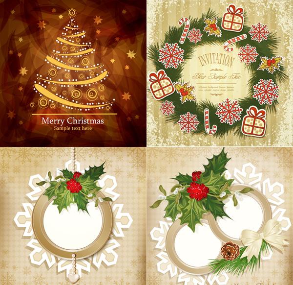 圣诞节花纹图案素材