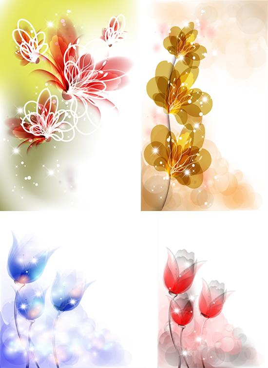 鲜花透光花朵素材