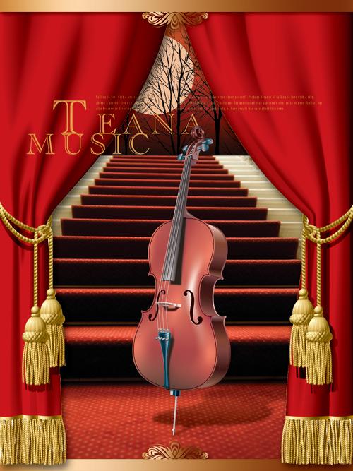 小提琴音乐海报素材