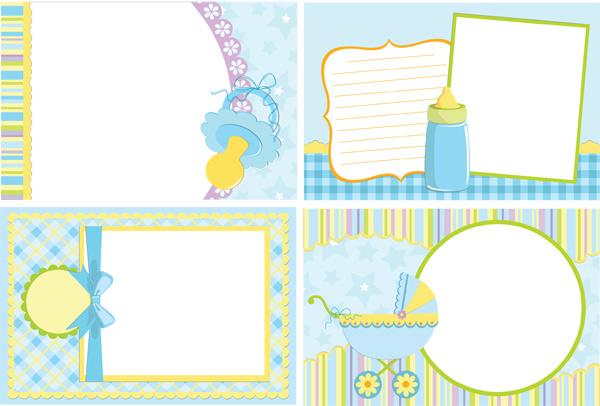 儿童婴儿相框-花边矢量图库-名片之家