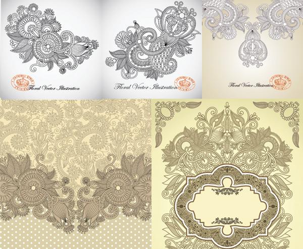 求图片中欧式复古花纹的素材,能一样的最好,没有的话类似也可以