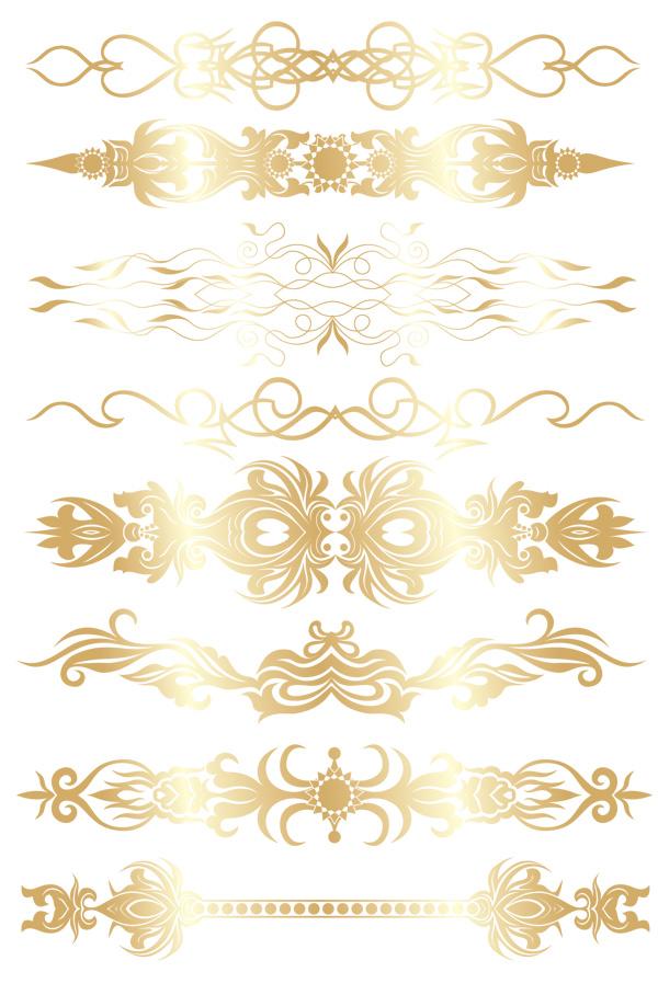 欧式金边花纹素材