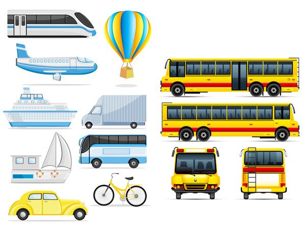 交通运输图标-交通矢量图库-名片之家