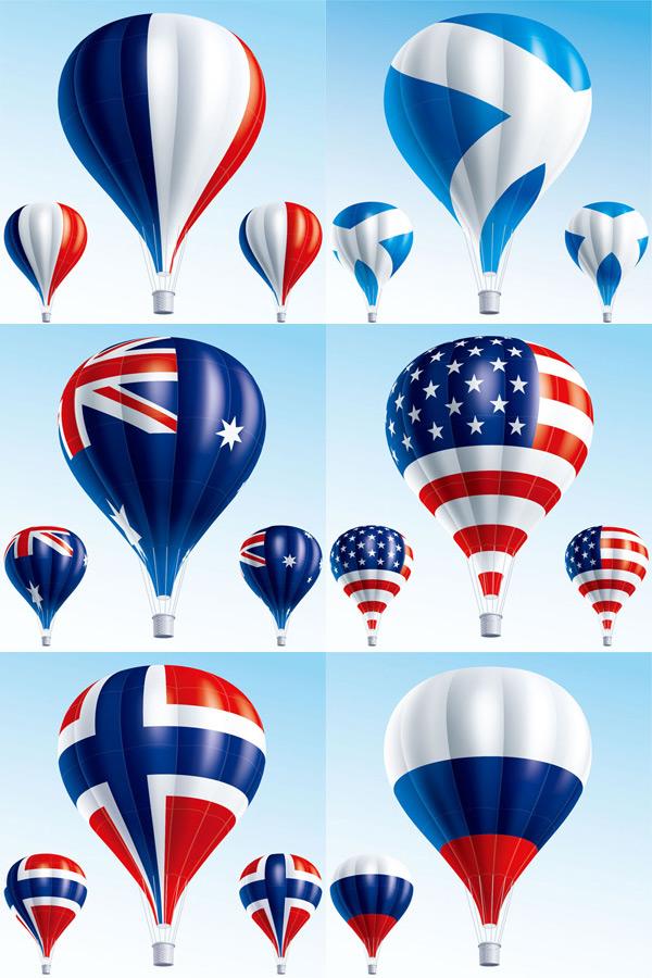 国旗图案热气球