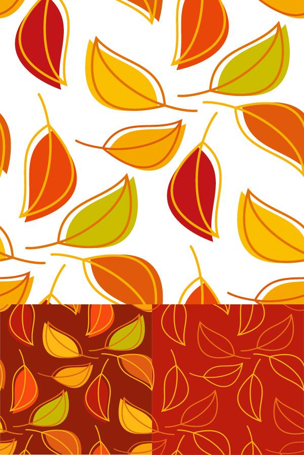 树叶创意背景素材