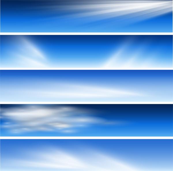 蓝色天空白云素材
