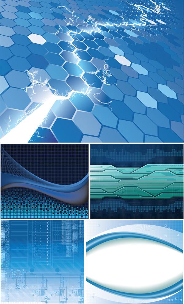 蓝色背景底纹-背景矢量图库-名片之家