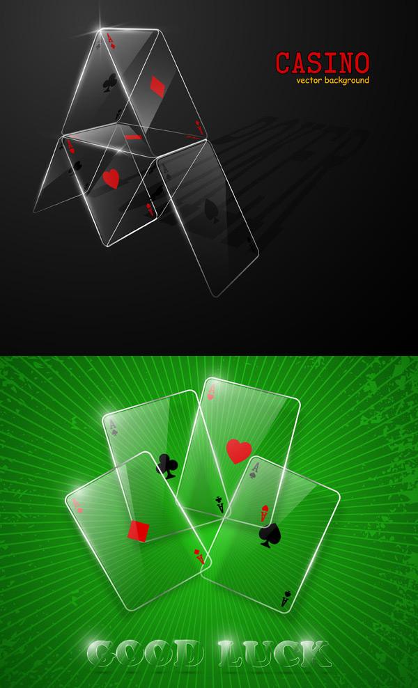 透明扑克牌矢量