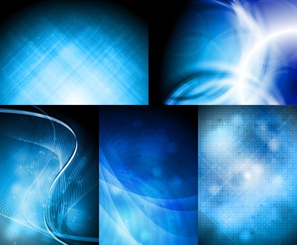 蓝色光线背景素材