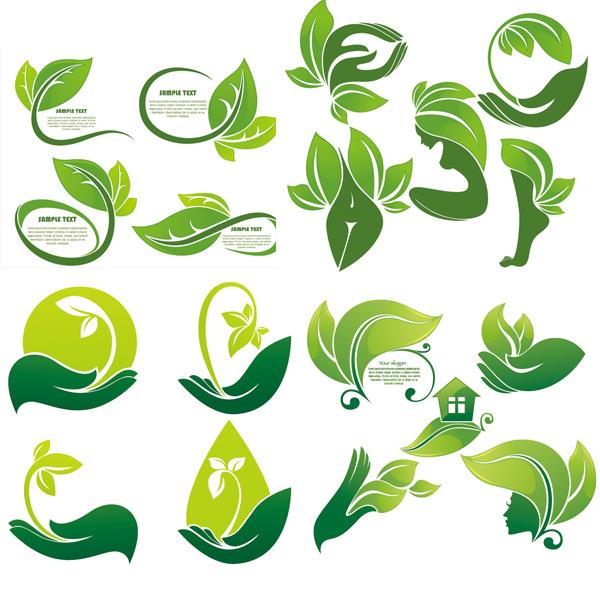 绿色生态图标素材