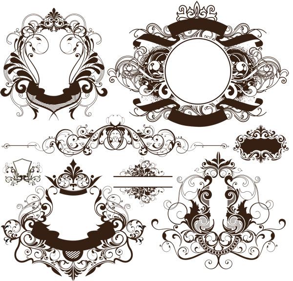 古典花纹边框-花边矢量图库-名片之家
