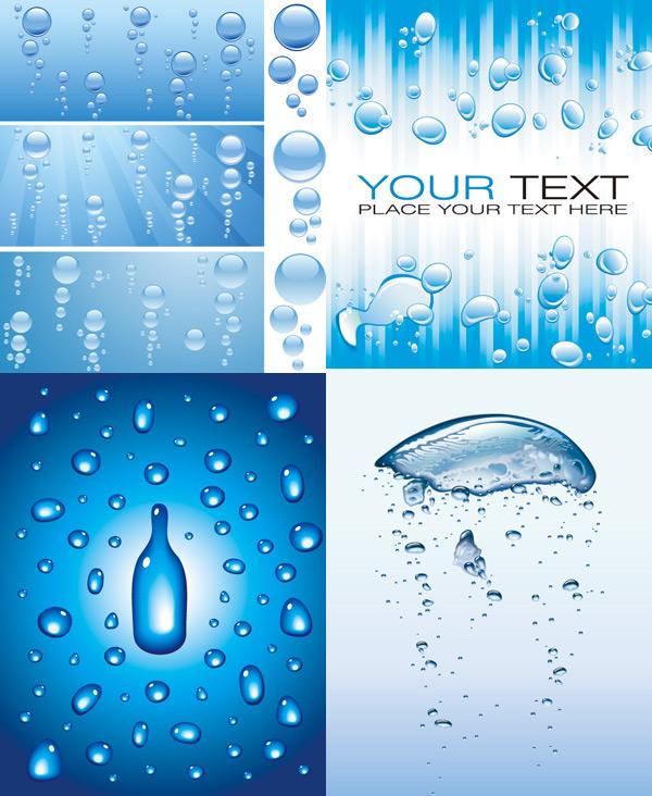 创意水滴背景素材