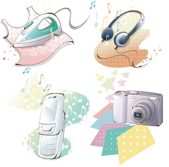 耳机动漫图片素材