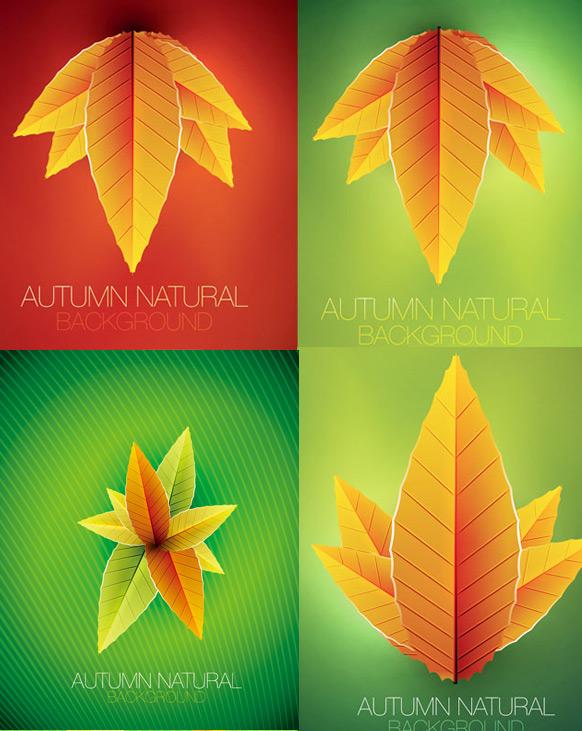 艺术创意树叶背景素材