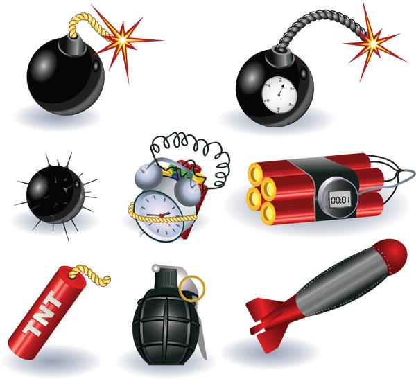 炸弹设备装置-军事武器矢量图库-名片之家