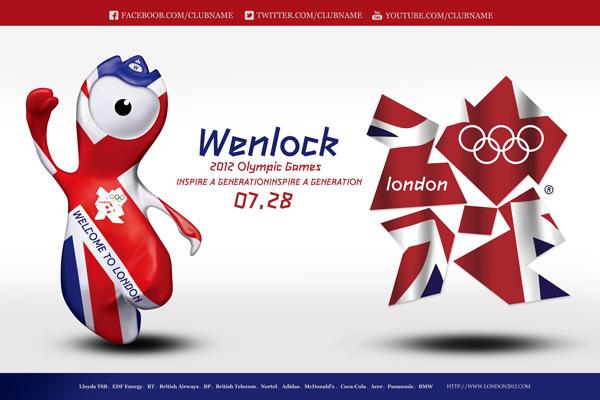 伦敦奥运会海报