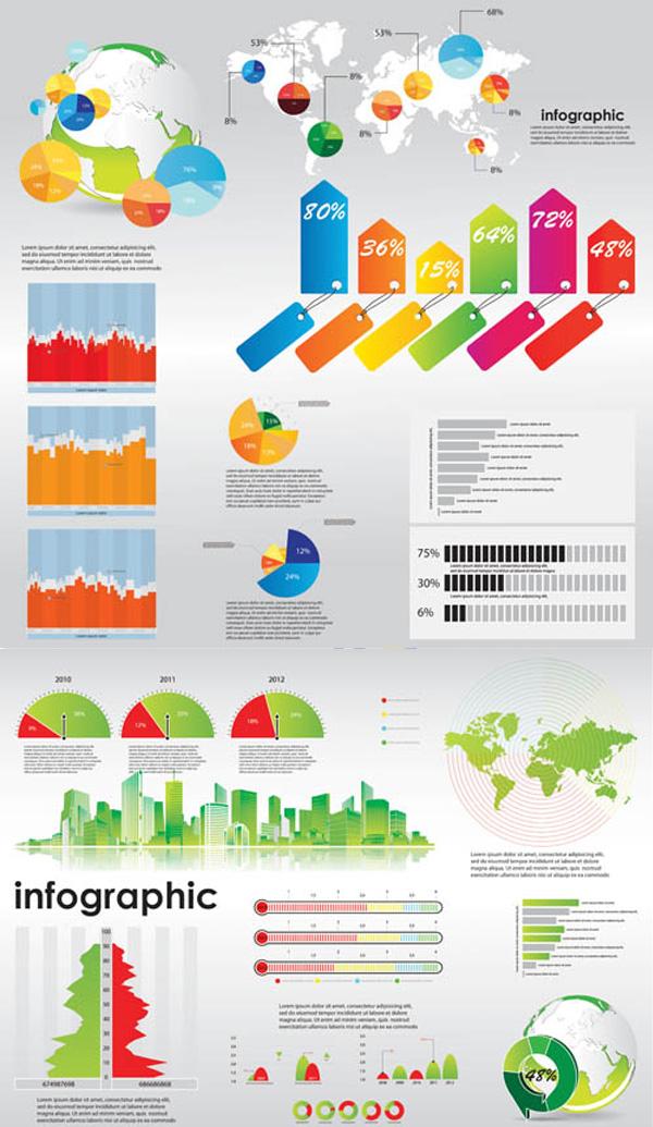 数据统计图表素材