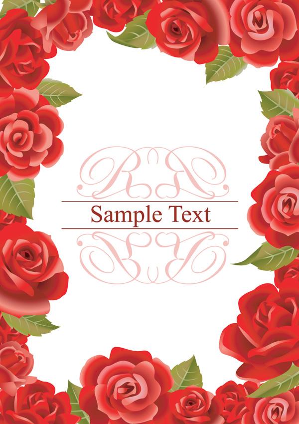 情人节玫瑰边框素材