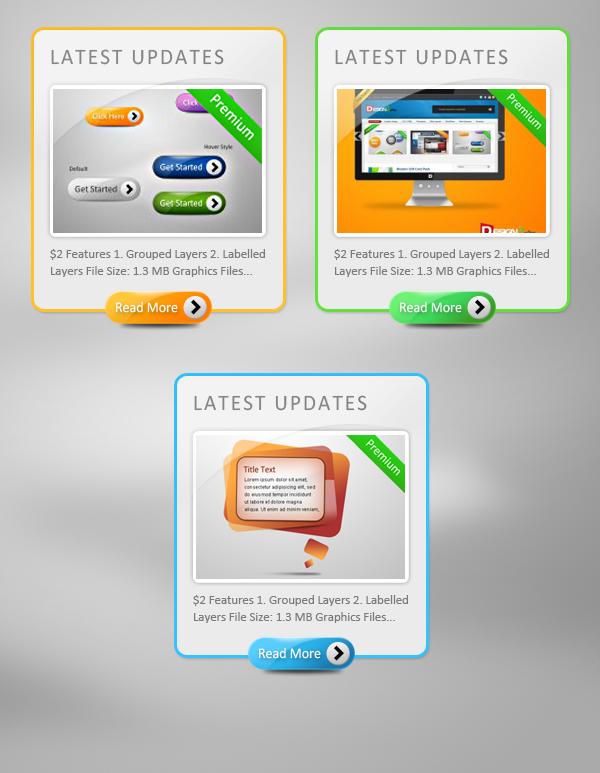 网页按钮展示框素材