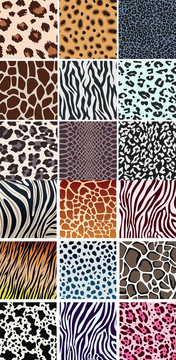动物花纹背景素材