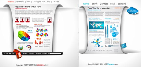 企业网站模板-平面广告矢量图库-名片之家