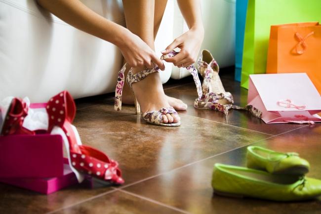 高跟凉鞋美女素材