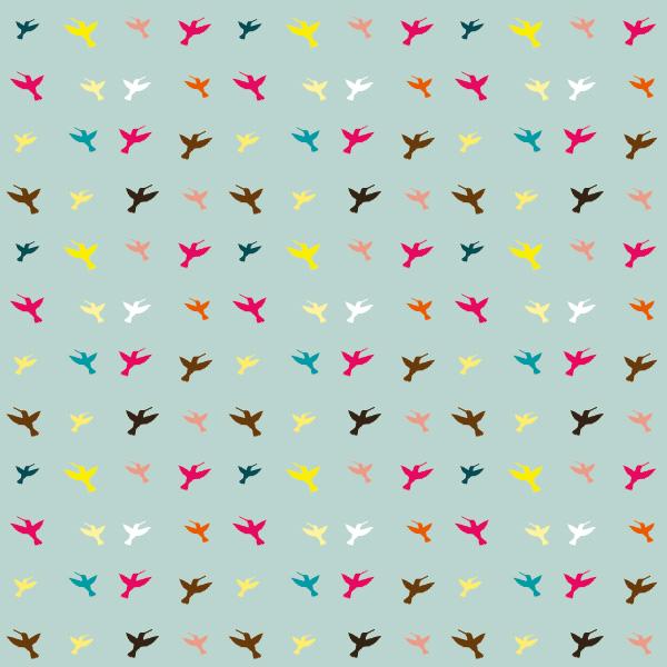 飞鸟点状装饰底纹素材