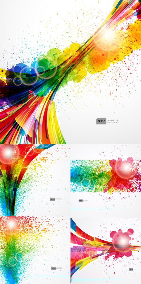 喷绘彩色背景素材