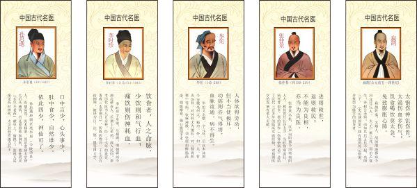 中国古代名医展板-平面广告矢量图库-名片之家