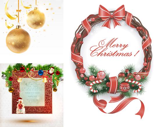 圣诞电子小报边框