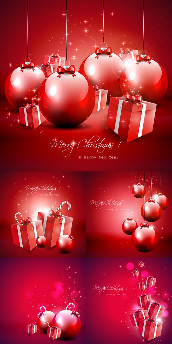 红色圣诞装饰素材