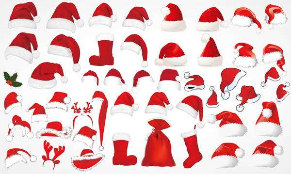 圣诞节帽子矢量素材