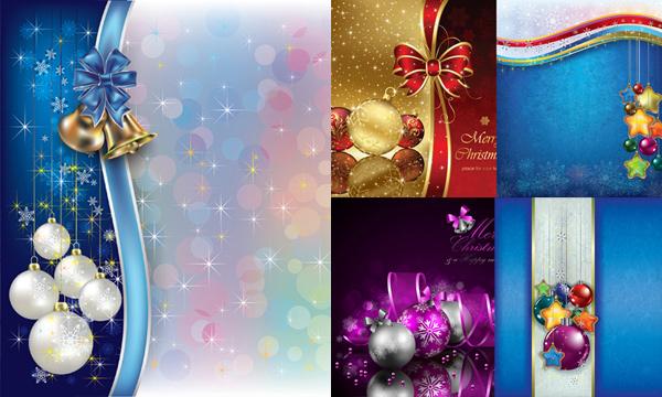 圣诞节挂饰矢量素材