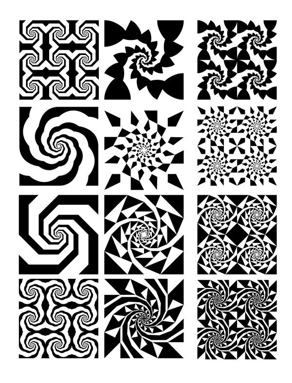 平面构成黑白图案