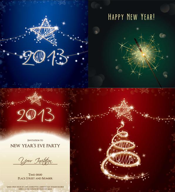 新年贺卡背景素材