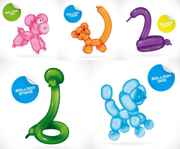 作各种可爱的动物气球哟