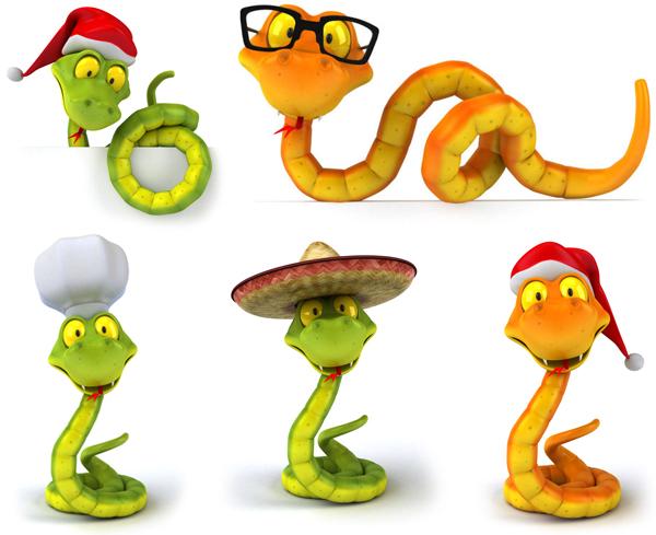 蛇形图案图片素材